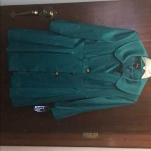 Teal Sateen Jacket